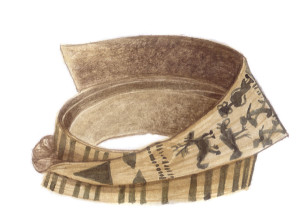 Konyak Naga man's bark belt