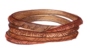 Konyak Naga man's cane belt